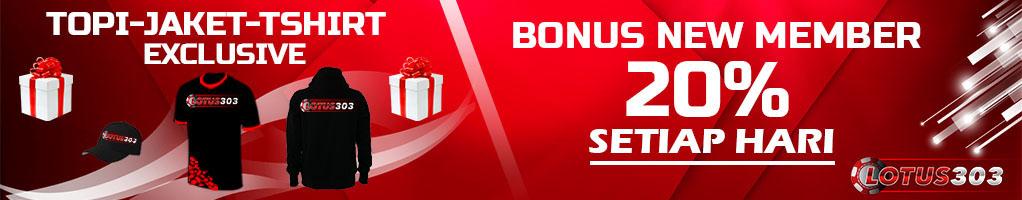 bonus welcome judi online resmi